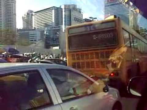 Thailand Redshirt Traffic condition at Centralworld Part 2