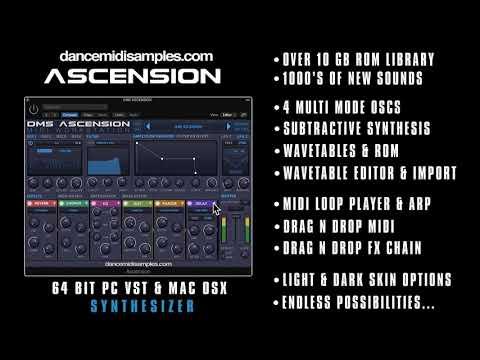 DMS Ascension VST/ AU Synthesizer - Mac & PC - EDM Demo 1