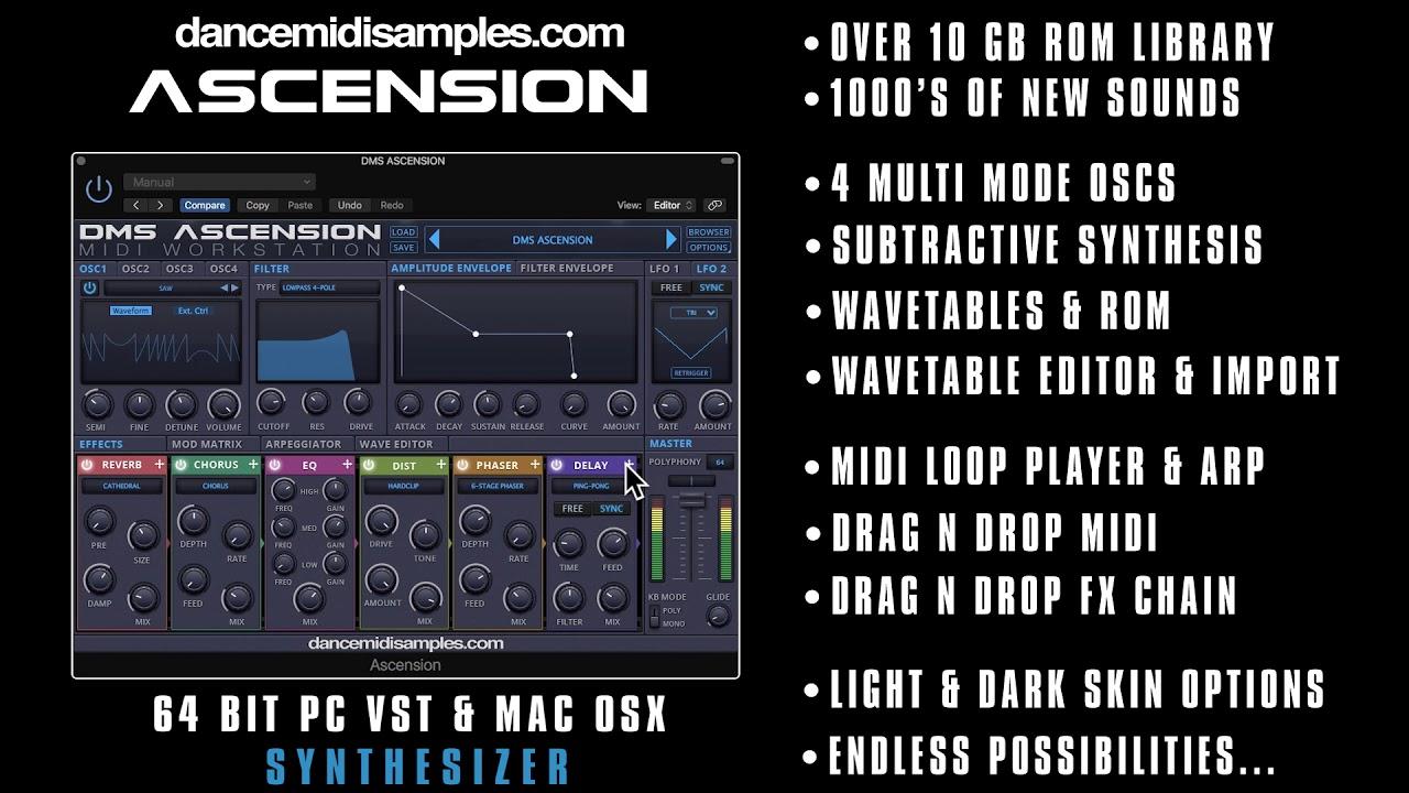 DMS Ascension Synthesizer - PC & Mac VST/ AU