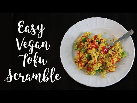 What I eat for Breakfast on a Plant Based Diet-Vegan Tofu Scramble Recipe!