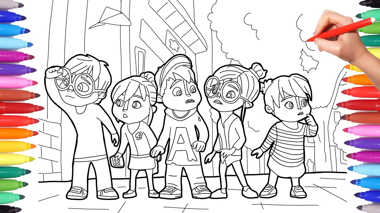 Alvinnn And The Chipmunks Alvin Coloring Pages For Kids How To Draw And Color Alvin Simon Theo 2