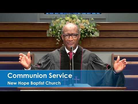 New Hope Baptist Church Jackson, Communion Service (9/6/2020)