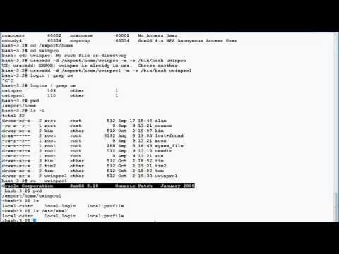 UNIX(Solaris) Users and Groups