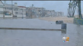 Flooding Traps Beachfront Residents In Seal Beach