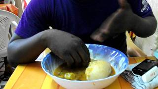 2011 Summer Vacation #24: Ghanaian rapper Wisdom schools me on how to eat Banku