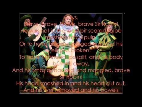 Brave Sir Robin Karaoke + Instrumental by Best 8 Tv