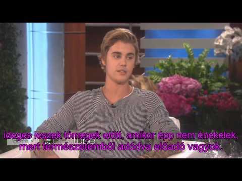 Justin Bieber az Ellen Showban -2015- magyar felirattal (JBH)