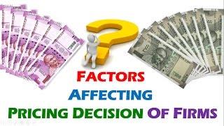 Factors affecting pricing decision || Marketing management || BBA / Bcom (3rd) || ppt