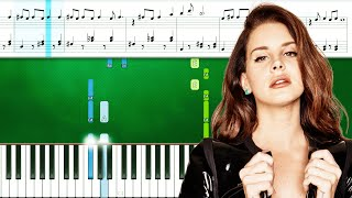Lana Del Rey - Chemtrails Over The Country Club (Piano Tutorial With Sheets | Piano Instrumental)