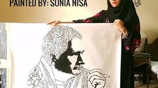 [1,012.51 KB] Allama Iqbal Calligraphy Painting - Sonia Nisa