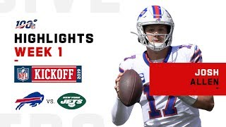 Josh Allen 2-TD Day | NFL 2019 Highlights