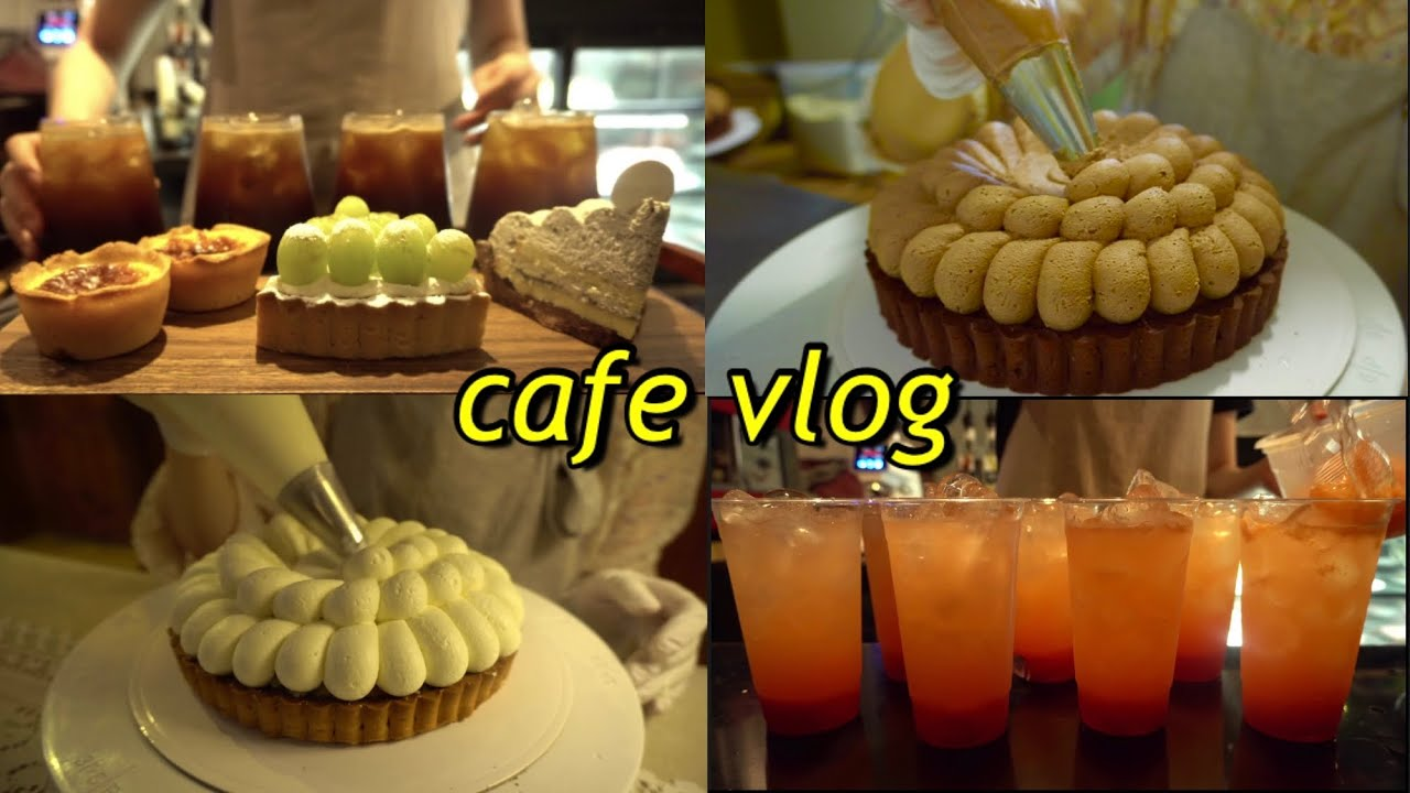 [Eng][cafe vlog] 크림짜기가 유독 많은 오늘의 카페브이로그🍰✨