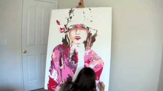 """""""Summer"""" Pop Art Style painting in Fast Motion by Artist AlSu"""
