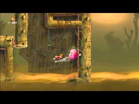 Rayman Legends Walkthrough Mundo 1: Arenas movedeprizas - All Teensies / Todos los diminutos