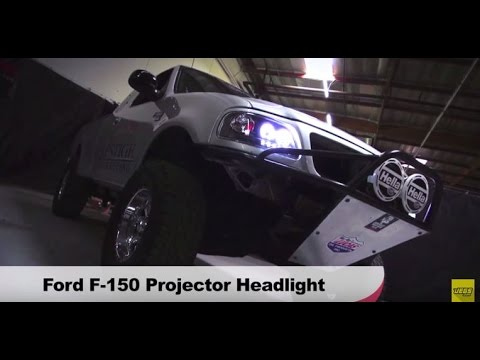 1997-2004 Ford F-150 Expedition LED Halo Projector Headlights Spyder on