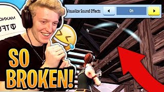 Tfue Shocked at VISIBLE Footsteps & Chest Locations Using Mobile Setting on PC Fortnite Moments