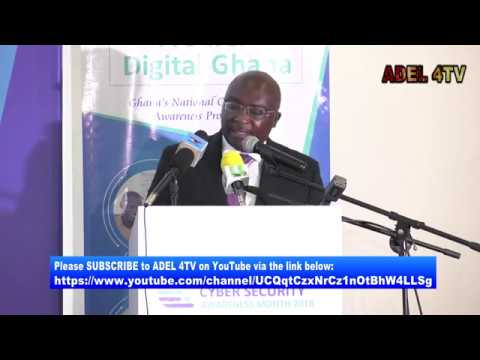 VEEP, DR. BAWUMIA AT THE LAUNCH OF NATIONAL CYBER SECURITY AWARENESS MONTH 2018_AKM