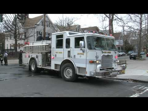 New Haven Connecticut Firefighters Battle Bathroom Fire