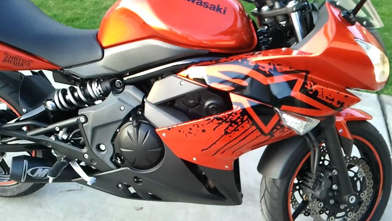 2011 Ninja 650R M4 Exhaust - YouTube