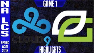 Video C9 vs OPT Highlights | NA LCS Week 3 Spring 2018 W3D1 | Cloud9 vs Optic Gaming Highlights download MP3, 3GP, MP4, WEBM, AVI, FLV Juni 2018