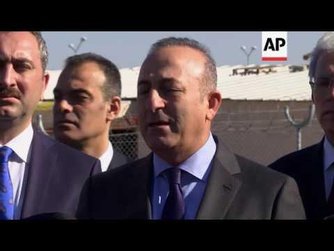 Turkey FM Cavusoglu visits Nizip refugee camp