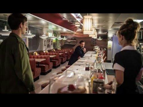 Baby, Debora And Buddy Restaurant Scene   Baby Driver 2017