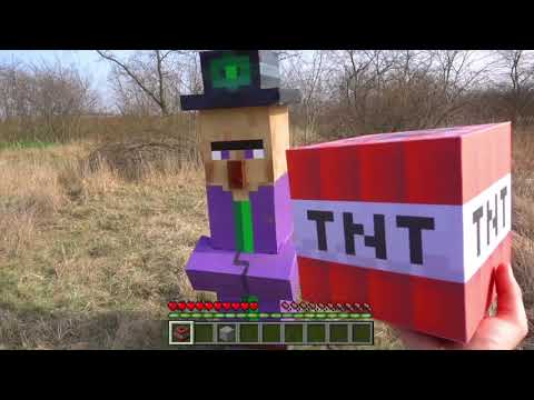 MINECRAFT REAL LIFE Witch vs TNT - IRL Animation