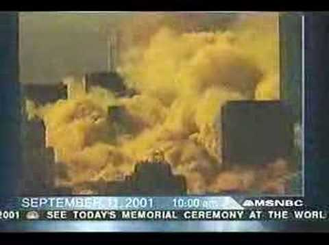 NBC 9/11/01 - 1st Tower Collapse