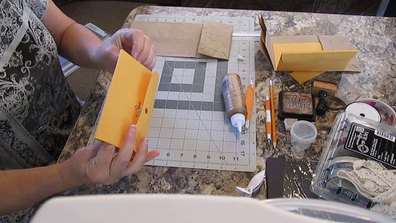 Scrapbooking Wallet Size Mini Flip Album Tutorial 1 Assembling