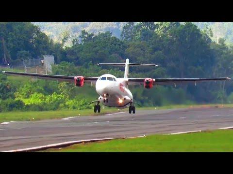 Mantap nih Take Off nya Wings Air Pake ATR 72 (Pesawat Terbang Indonesia Take Off)