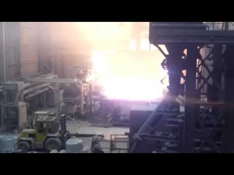 Steel Mill Wet Charge Accident Causes Huge Explosion