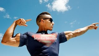 Zac Perna 19 yr old Teen bodybuilder fitness model beach photoshoot