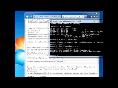 Remove Printers from Command Line or Script in Windows