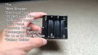 How to: Portable USB Solar Panel Charger, iPhone, Android, Windows Phones and More!