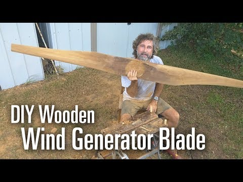 Carving a DIY Wind Generator Blade from Wood (FULL VIDEO)