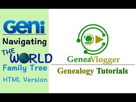 Navigating The World Family Tree On Geni.com (HTML Tree) - Genealogy Tutorial