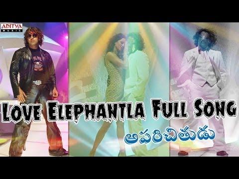Love Elephantla Full Song II Aparichithudu Movie II Vikram, Sadha