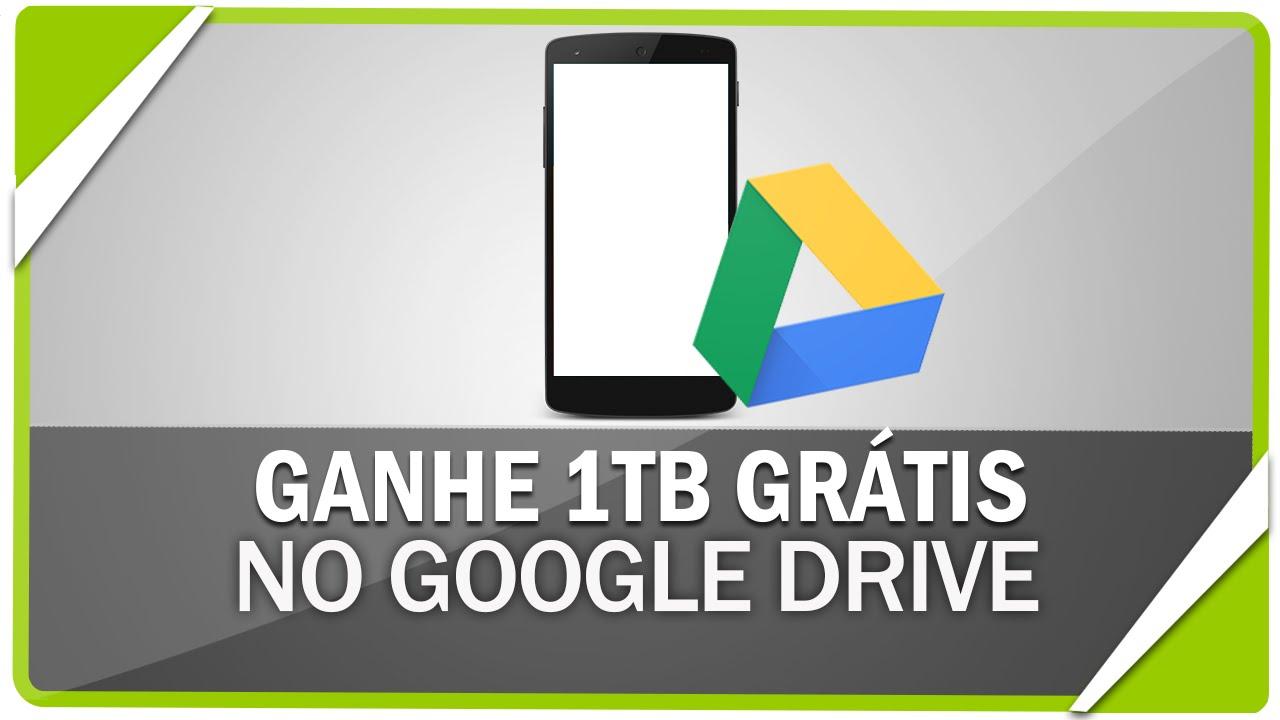 Como ganhar 1 TB de graça no Google Drive