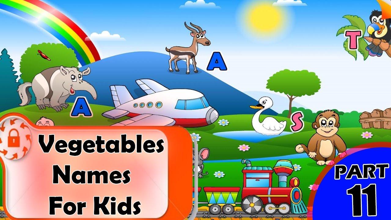 Vegetables Names For Kids   List of Vegetables Name ...