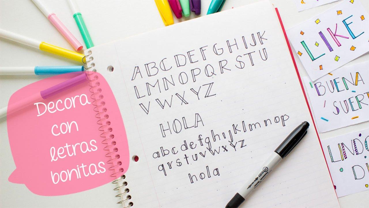 escribe bonito con letras decorativas 1 bigcrafts youtube - Letras Decorativas
