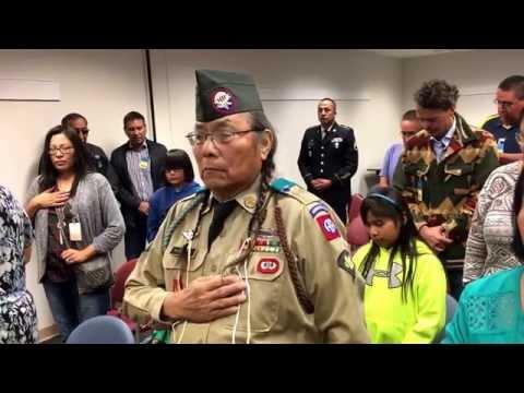 Cheyenne honor song for Vietnam veteran Thomas Rockroads.