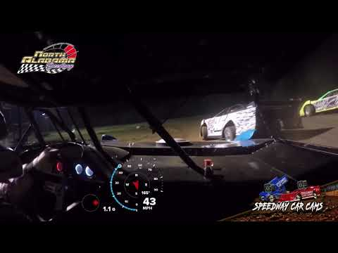#17 Blake Ray - 602 Sportsman - 7-14-18 North Alabama Speedway - In Car Camera