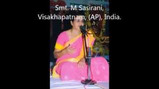Amba Vaani - Indian Carnatic Classical Vocal by: Smt M Sasirani, Visakhapatnam.