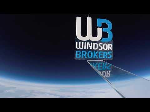 Windsor Brokers logo space launch