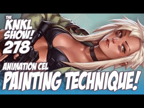 KNKL 278: Easy animation Cel painting TECHNIQUE!