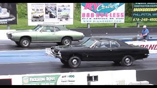 AMERICAN MUSCLE CARS - STOCK APPEARING DRAG RACING