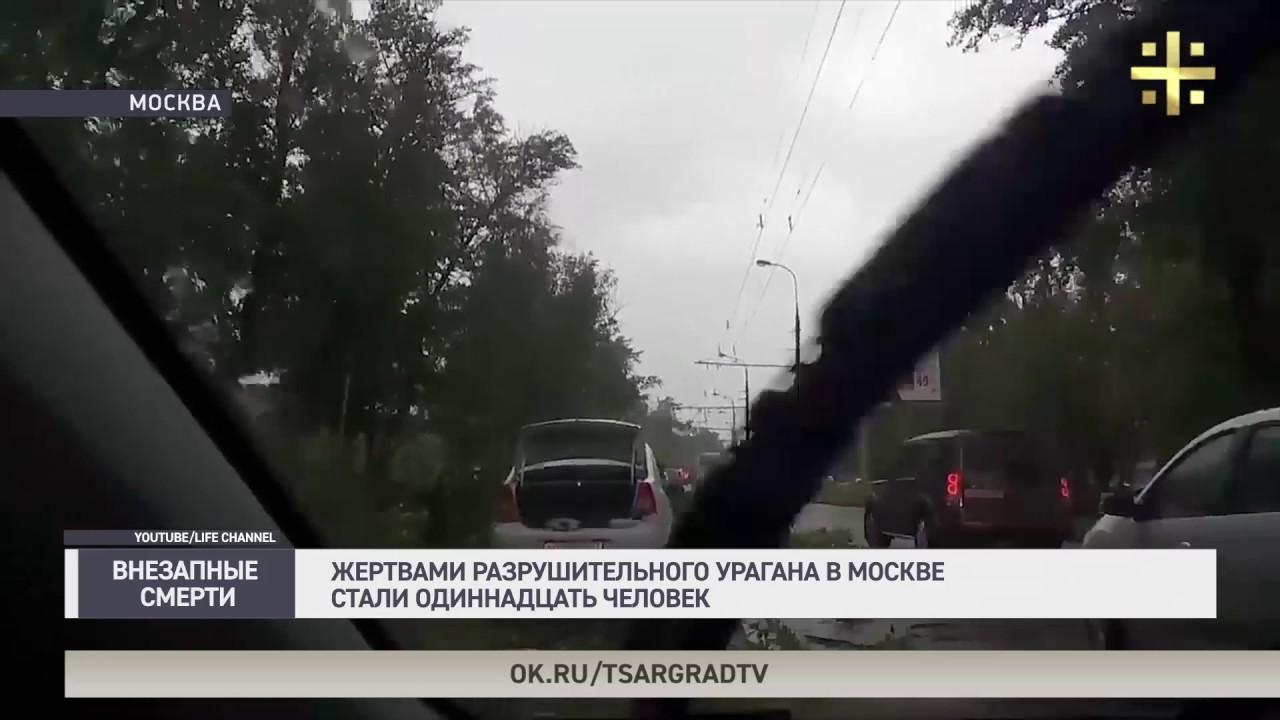 Жертвами разрушительного урагана в Москве стали одиннадцать человек