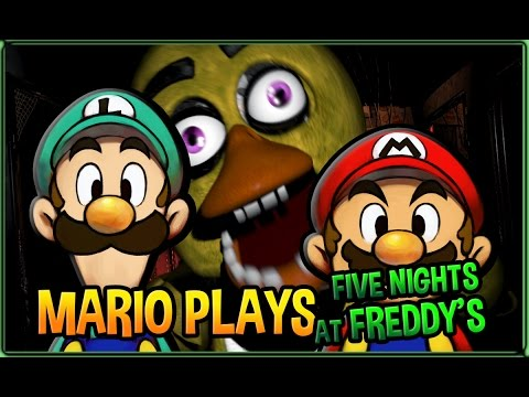 Mario Plays Five Nights at Freddy