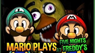 Mario Plays Five Nights at Freddy