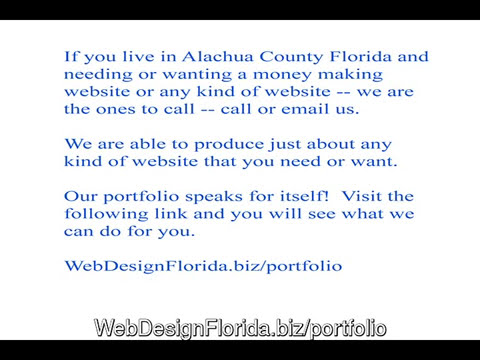 Alachua County website design services -- http://www.WebDes